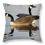 Canadian Swim Throw Pillow