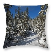 Canadian Winter Wonderland.. Throw Pillow