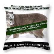 Canadian Wolves Wildcats And Wildlife Photography Workshop Throw Pillow