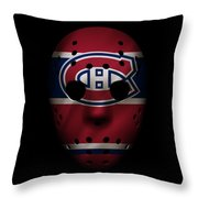 Canadiens Jersey Mask Throw Pillow