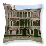 Canal Architecture Throw Pillow