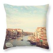 Canal Grande In Venezia Throw Pillow