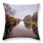 Canal Of Amsterdam Throw Pillow