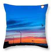 Canal Park Sunrise Throw Pillow