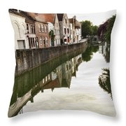 Canal Reflection  Throw Pillow