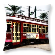 Canal Street Car Throw Pillow by Bill Cannon