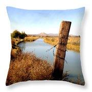 Canal View  Mesilla Throw Pillow