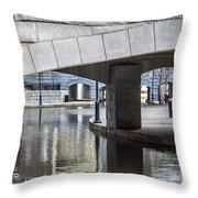 Canal Walk Throw Pillow