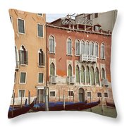 Canale Grande Throw Pillow