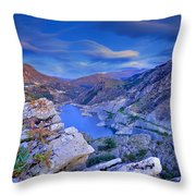 Canales Lake Throw Pillow
