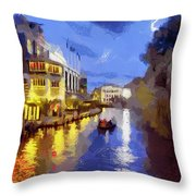 Water Canals Of Amsterdam Throw Pillow