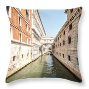 Canals Of Venice Throw Pillow