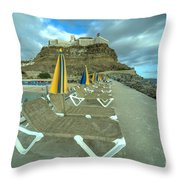 Canarian Loungers  Throw Pillow