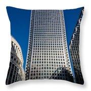 Canary Wharf Tower London Throw Pillow