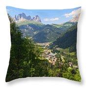 Canazei - Val Di Fassa Throw Pillow