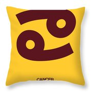 Cancer Zodiac Sign Brown Throw Pillow
