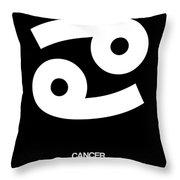 Cancer Zodiac Sign White Throw Pillow