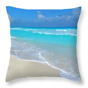 Cancun Hotel Zone Throw Pillow