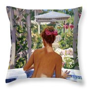 Candace Being Candlish On Canvas Throw Pillow