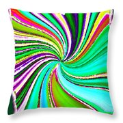 Candid Color 21 Throw Pillow