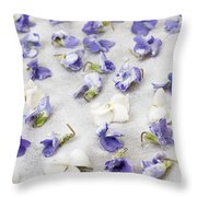 Candied Violets Throw Pillow