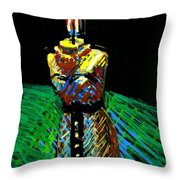 Candle Bust Throw Pillow