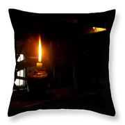 Candle Flame Double Wick Throw Pillow
