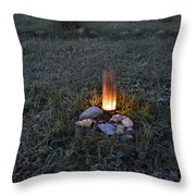 Candle Glow Throw Pillow