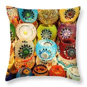 Candle Holders Throw Pillow