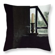 Candle In The Window Throw Pillow