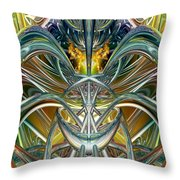 Candle Light Abstract Flame Fx  Throw Pillow
