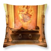 Candle Lit Bath Throw Pillow