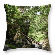 Candle Of Rock Throw Pillow