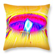 Candle On A Sunny Day Throw Pillow