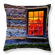 Candle Shop Window Throw Pillow