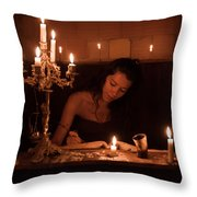 Candlelight Fantasia Throw Pillow