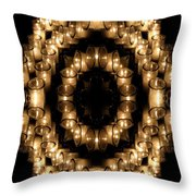 Candles Abstract 6 Throw Pillow