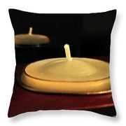 Candles And Relaxation Throw Pillow