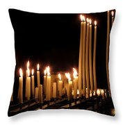 Candles In Church Throw Pillow