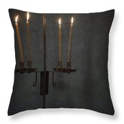 Candles In The Dark Throw Pillow