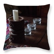 Candles In The Morning Throw Pillow