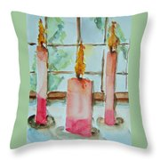 Candles In The Wind-ow Throw Pillow