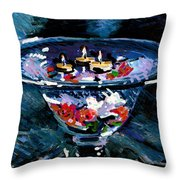 Candles In Water Throw Pillow