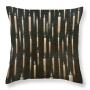 Candles On The Lake Udaipur India Throw Pillow