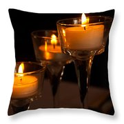 Candles Throw Pillow