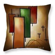 Candlsticks Throw Pillow