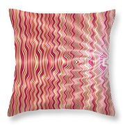 Candy Apple Explosion Throw Pillow