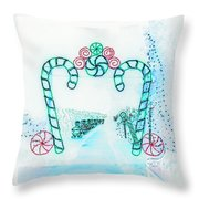 Candy Cane Christmas 2 Throw Pillow