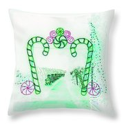 Candy Cane Christmas 5 Throw Pillow