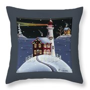 Candy Cane Cove Throw Pillow